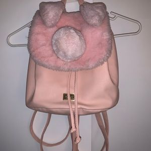 Betsey Johnson Pink Bunny Mini Backpack HTF